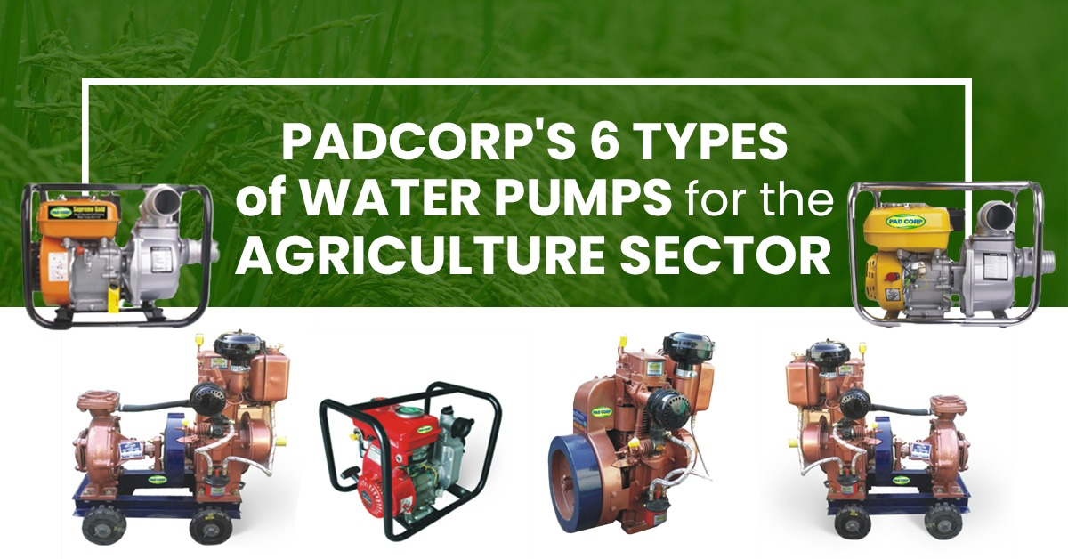 PadCorp's 6 types of water pumps for the agriculture sector